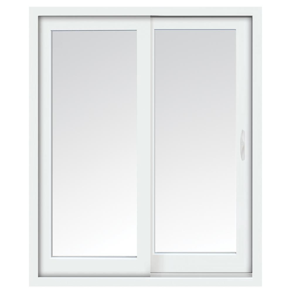 60-inch x 80-inch Glacier 800 Series White Righthand Assembled Vinyl Sliding Patio Door