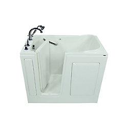 American Standard 48-inch x 30-inch x 50-inch Gelcoat Soaking Left-Hand Drain Walk-In Bathtub