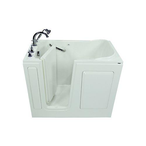 American Standard American Standard W48 x D28 x H38 Rectangular Gelcoat Soaking Left-Drain Walk-In Bathtub in White