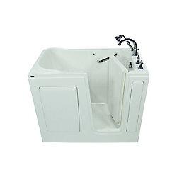 American Standard W48 x D28 x H38 Gelcoat Soaking Right-Hand Drain Walk-In Bathtub