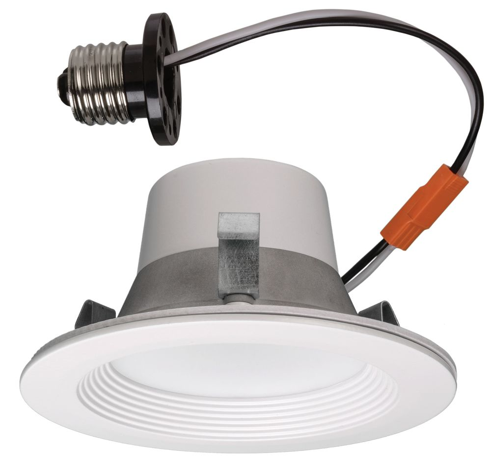 Commercial Electric Matte White Recessed Retrofit Smart Led Downlight - 4 Inch - ENERGY STAR®