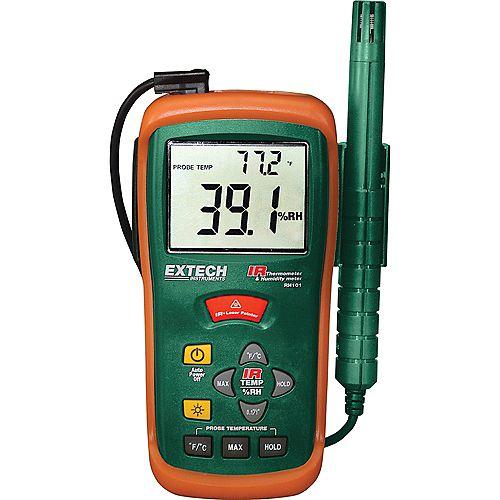 Extech Instruments Thermohygromètre et thermomètre infrarouge