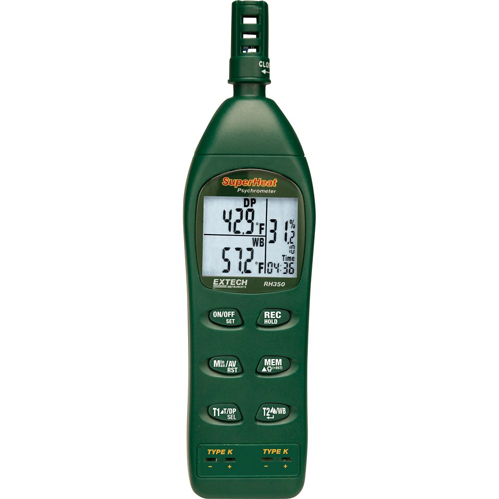 Extech Instruments Dual Input Hydro-Thermometer Psychrometer