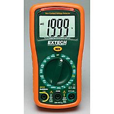 Mini multimètre avec 9 fonctions + Détecteur de tension sans contact