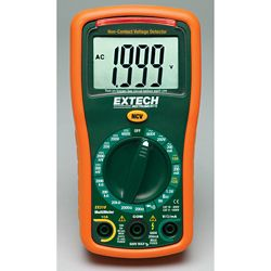 Extech Instruments 9 Function Mini MultiMeter + Non-Contact Voltage Detector