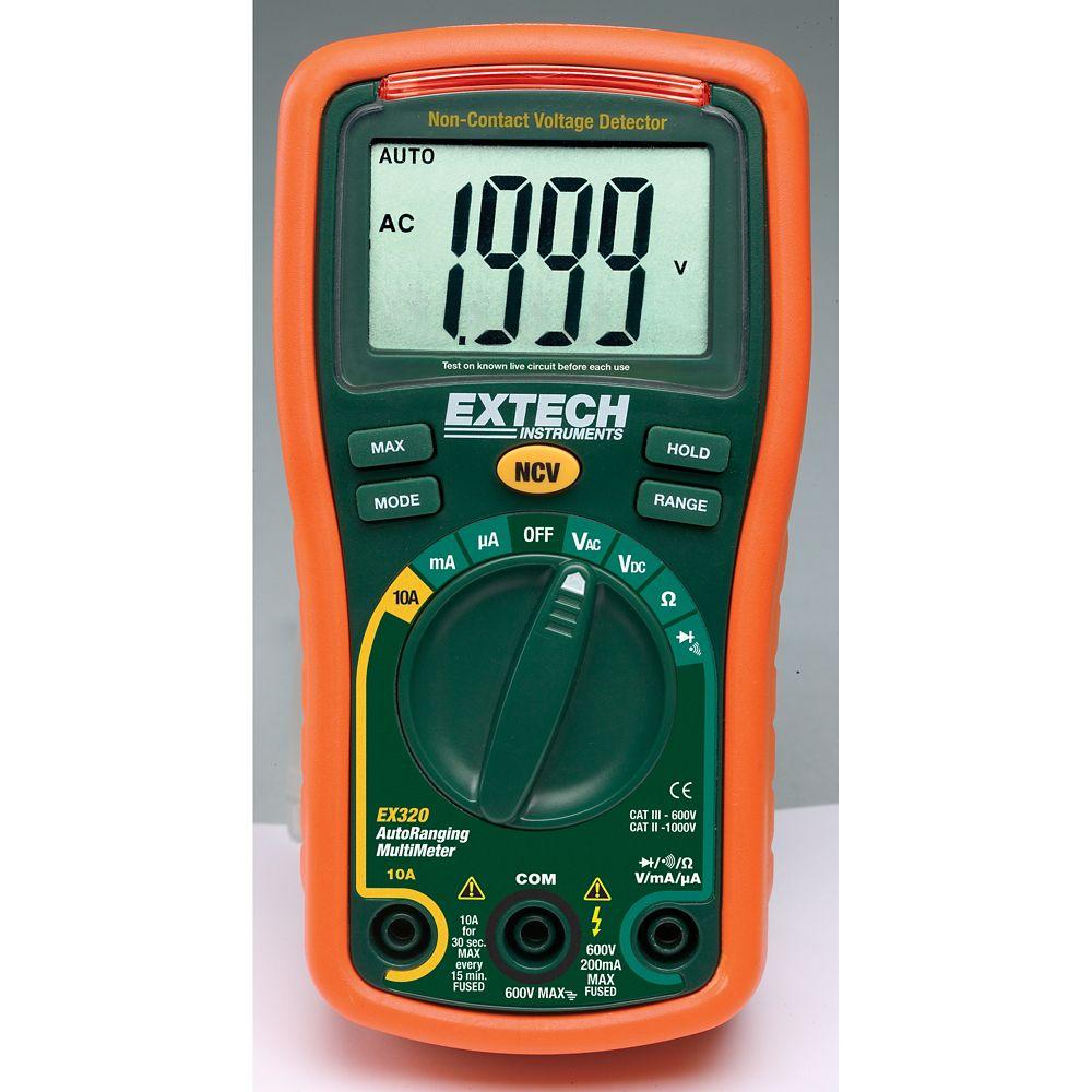 8 Function Mini MultiMeter + Non-Contact Voltage Detector