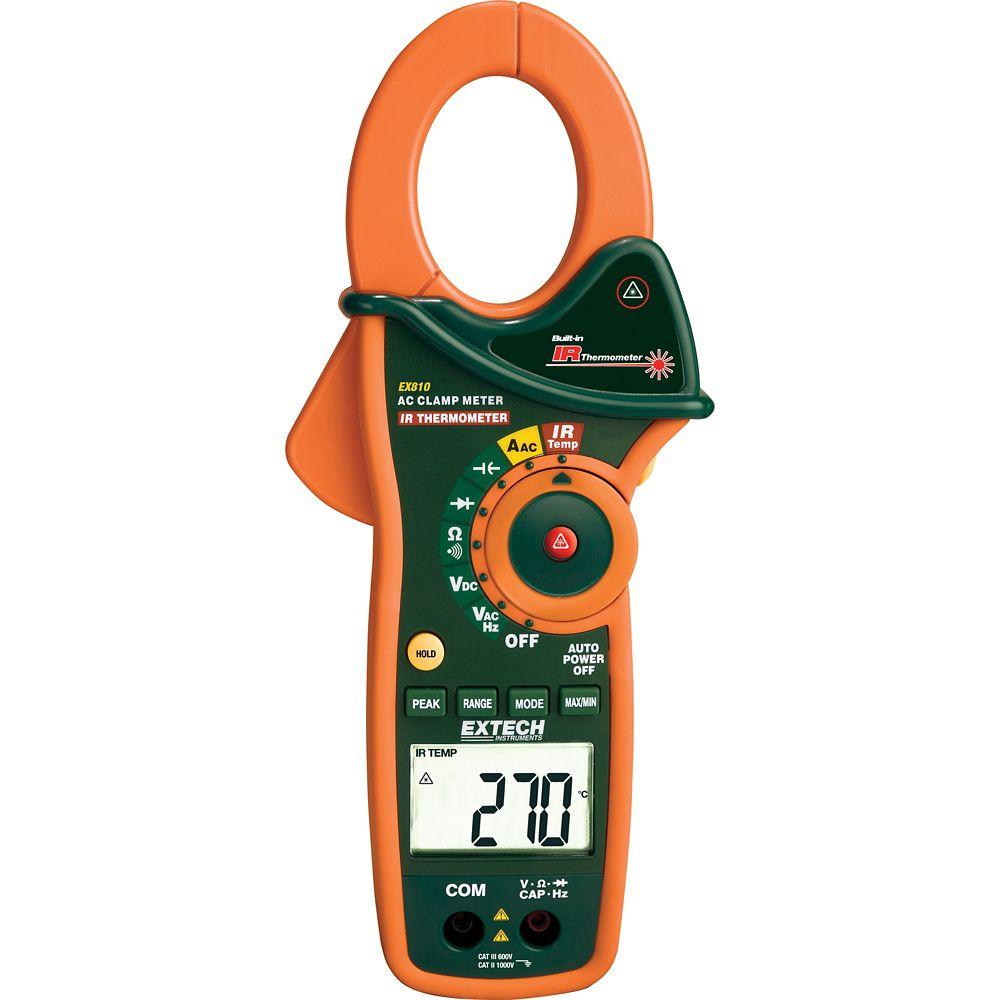 Ampèremètre 1000A AC avec thermomètre infrarouge