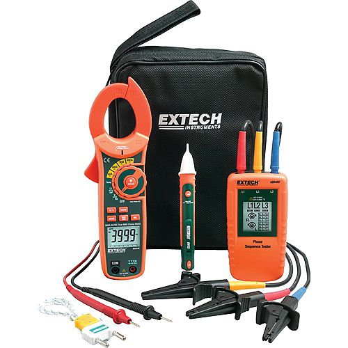 Extech Instruments Phase Rotation/Clamp Meter Test Kit