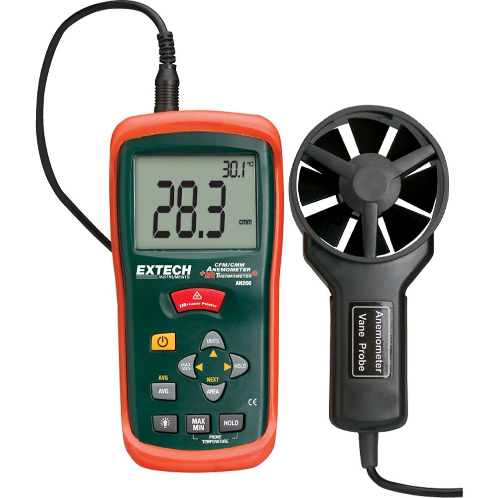 CFM/CMM Mini Thermo-Anemometer with built-in InfaRed Thermometer AN200 Canada Discount