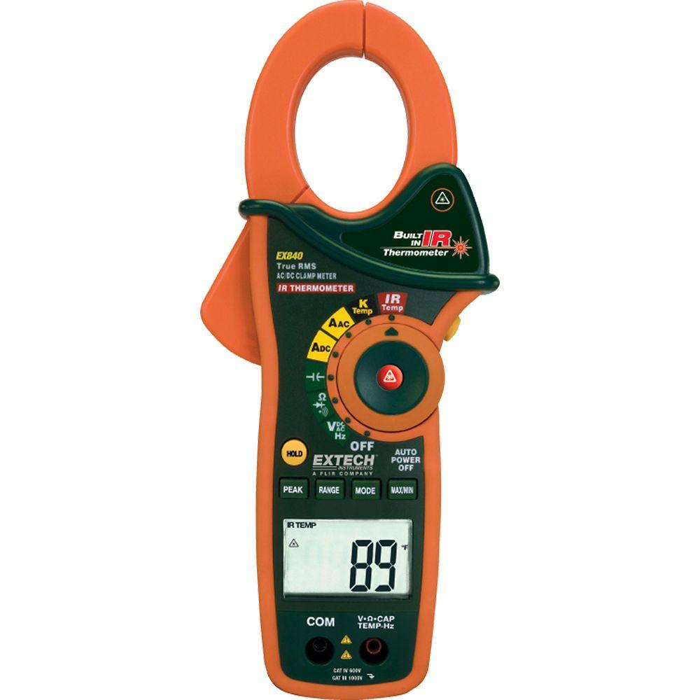 Multimètre/ampèremètre 1000Ampères à valeur efficace vraie et thermomètre infrarouge