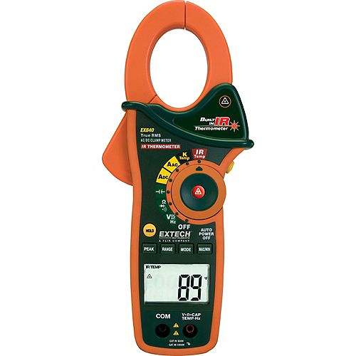 Extech Instruments 1000A AC/DC True RMS Clamp/DMM + IR Thermometer