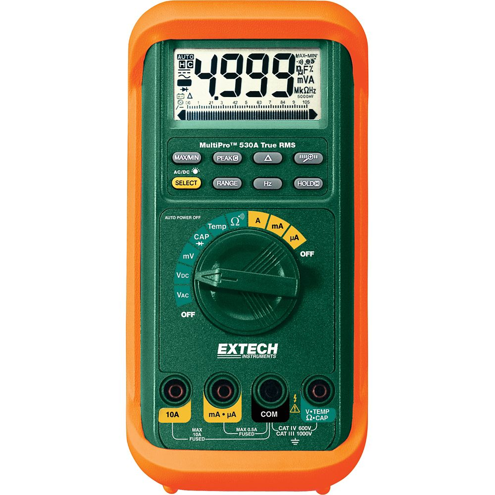 Electrical Testers Tools The Home Depot Canada Waterproof Digital Lcd Ac Dc Voltage Continuity Circuit Tester Tm Extech Instruments Multipro High Performance Multimeter