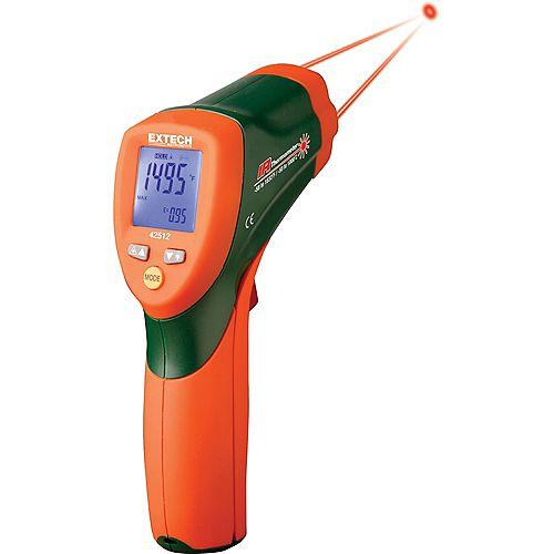 Extech Instruments Thermomètre infrarouge (IR) à double visée laser