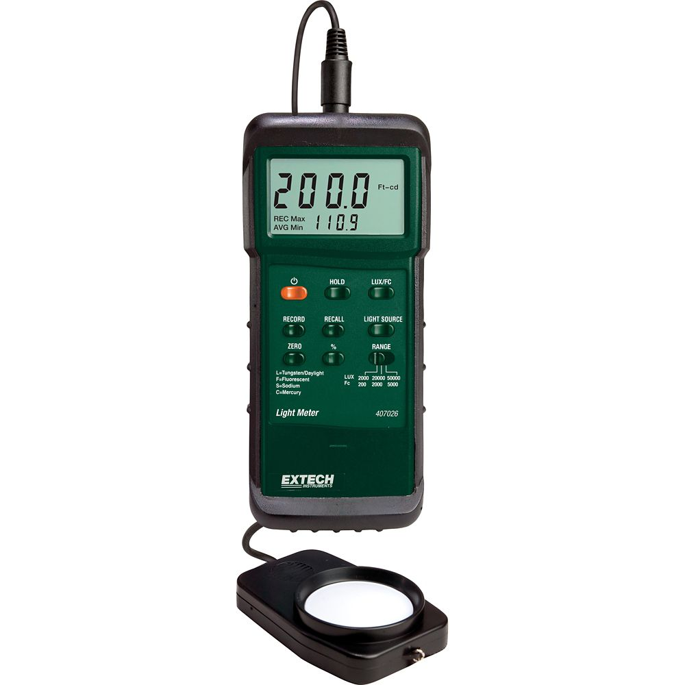 Extech Instruments Heavy Duty Light Meter with PC Interface