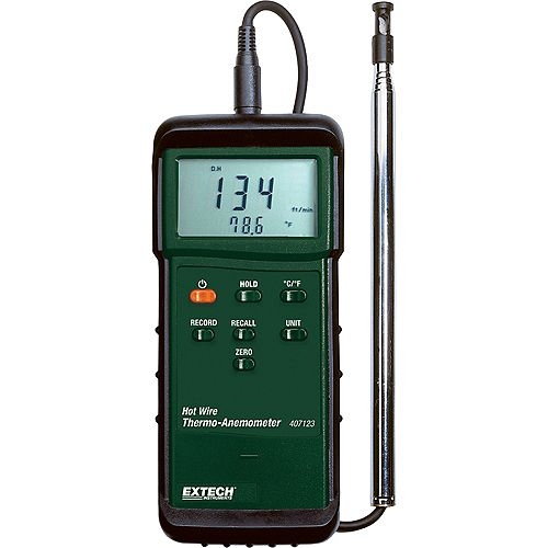 Extech Instruments Heavy Duty Hot Wire Thermo-Anemometer