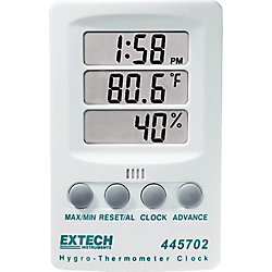 Extech Instruments Hygro-Thermometer Clock