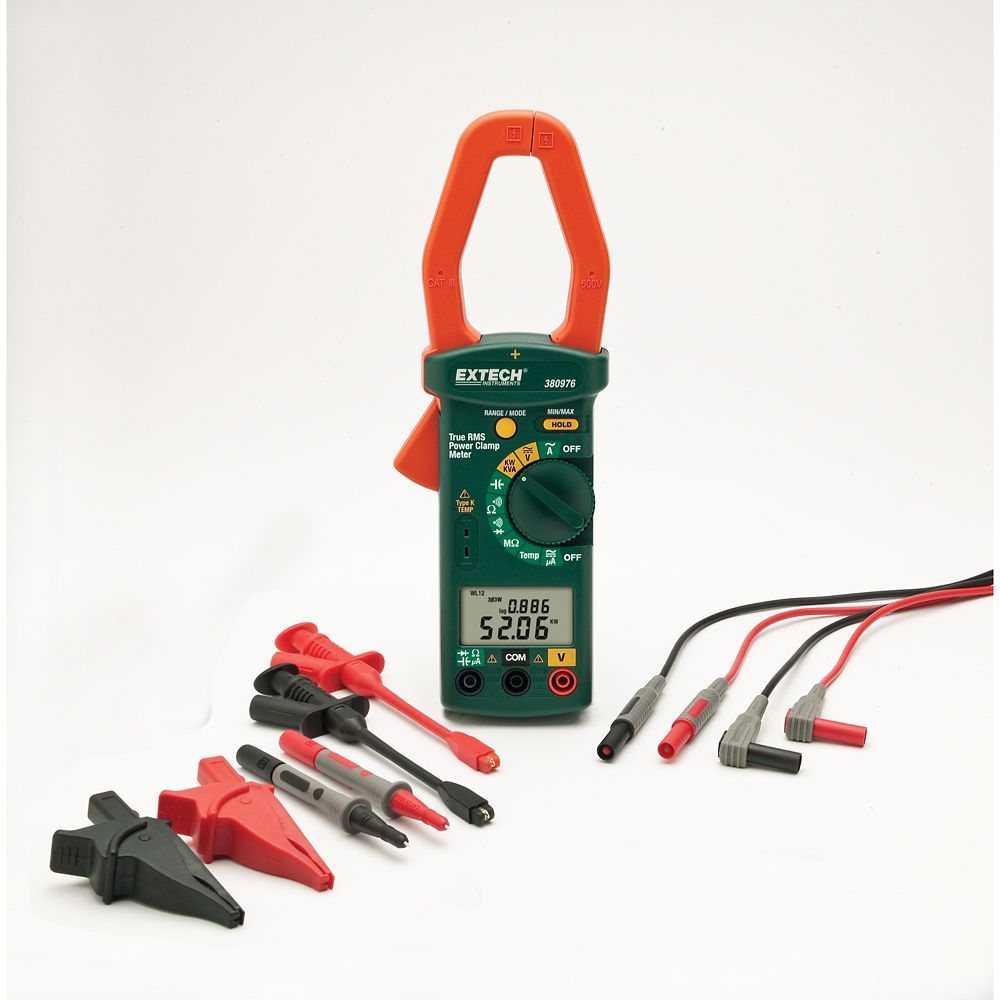 Single Phase/Three Phase 1000A AC Power Clamp Meter Kit 380976-K Canada Discount