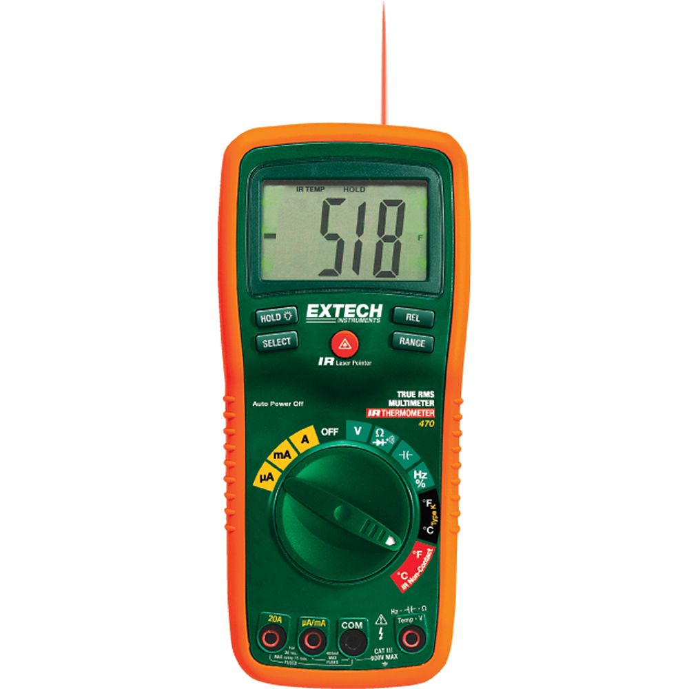 12 Function True RMS Professional MultiMeter InfraRed Thermometer