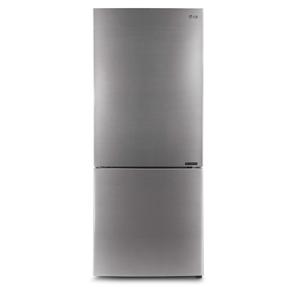 LG Electronics 28-inch 14.7 cu. ft. Refrigerator with Bottom Freezer in Platinum Silver, Counter-Depth - ENERGY STAR®