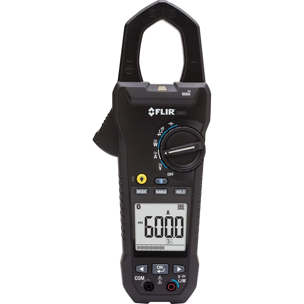FLIR Systems 600A Power Clamp Meter with VFD and Bluetooth