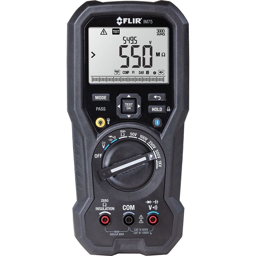 IM75 Insulation Tester/Digital Multimeter with VFD Filter and Bluetooth