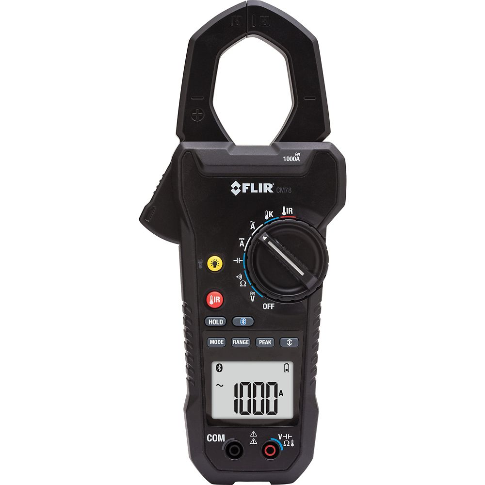 1000A AC/DC Clamp Meter with IR Thermometer