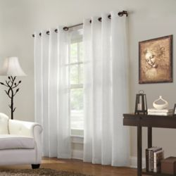 HDC Stephon Sheer Grommet Curtain 52 inches width X 108 inches length, White