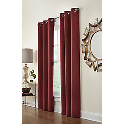 Home Decorators Collection Grommet, Red, 40 x 95