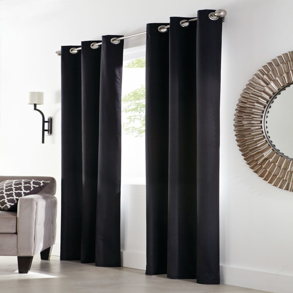 Home Decorators Collection Grommet, Black, 40 x 108