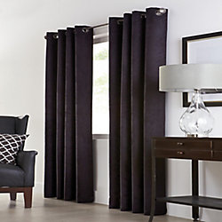 Home Decorators Collection Navar 100% Blackout Grommet Curtain 54 inches width X 108 inches length, Black