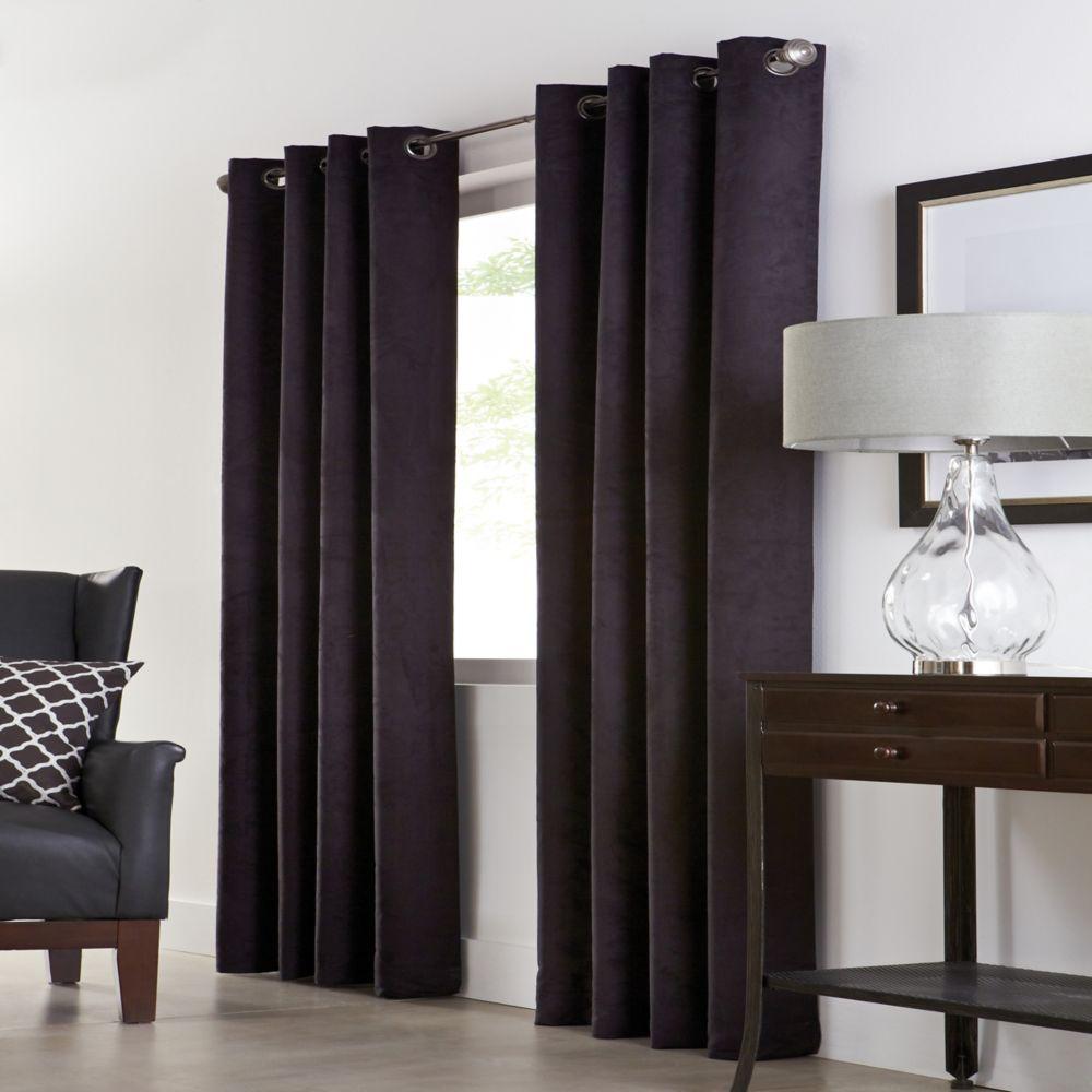 Home Decorators Collection Grommet, Black, 54 x 108