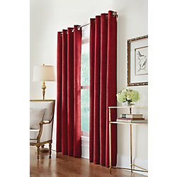 Home Decorators Collection Grommet, Burgundy, 54 x 108