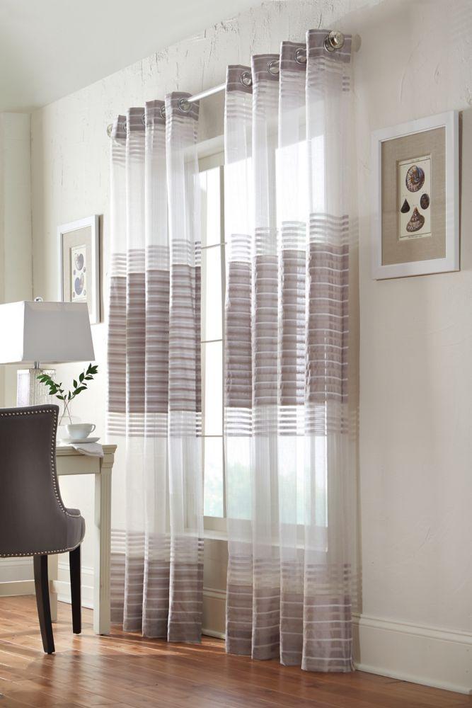 Home Decorators Collection Grommet, Silver, 54 x 95