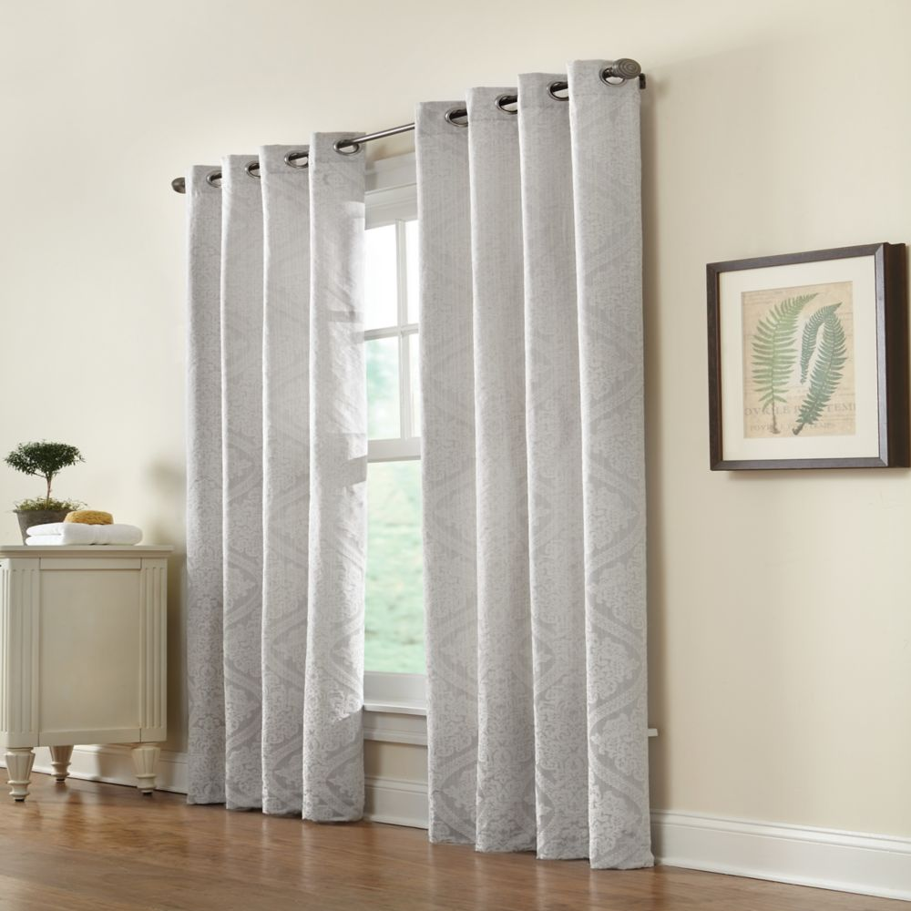 Home Decorators Collection Grommet Grey 50 X 108 The Home Depot Canada