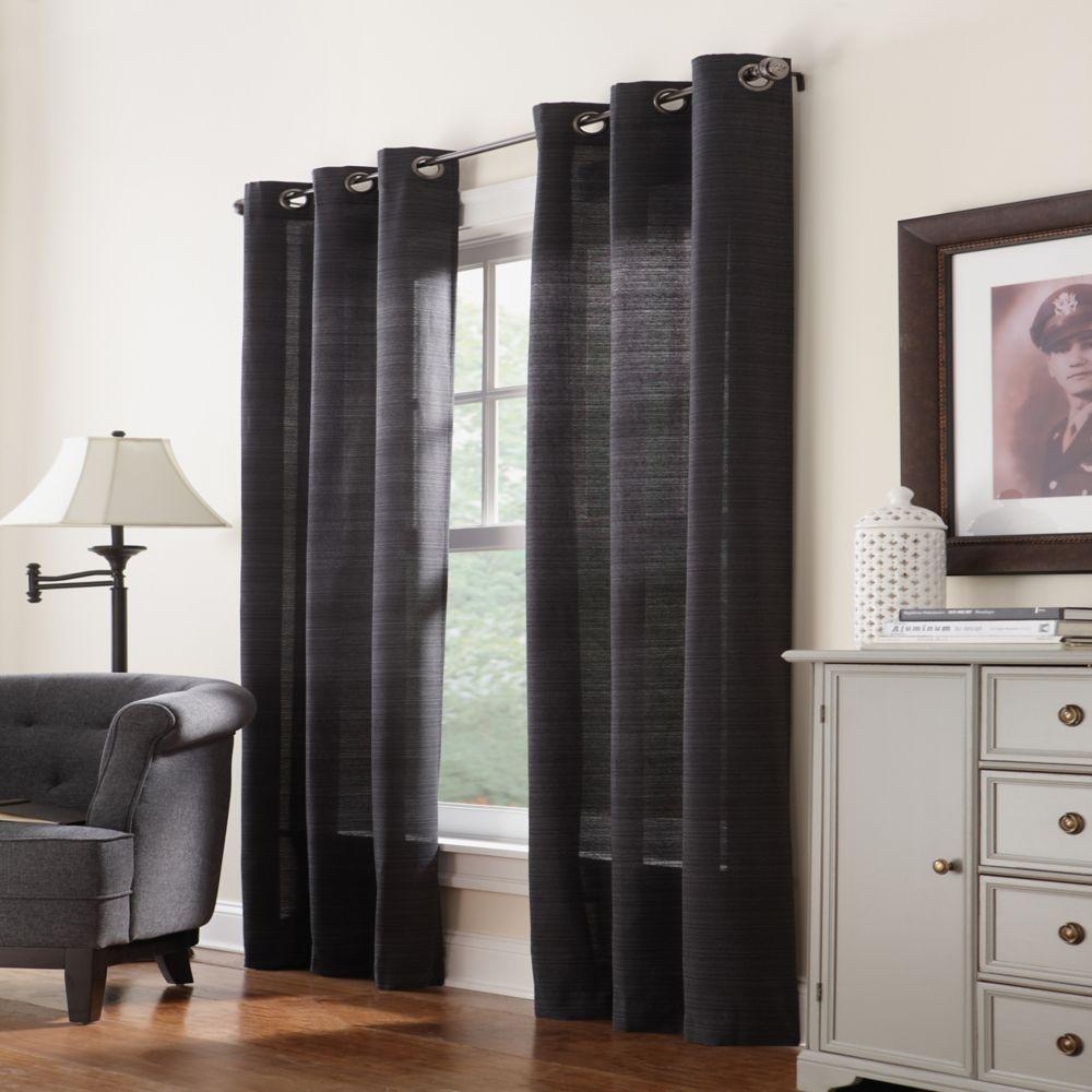 Home Decorators Collection Grommet, Black, 42 x 108