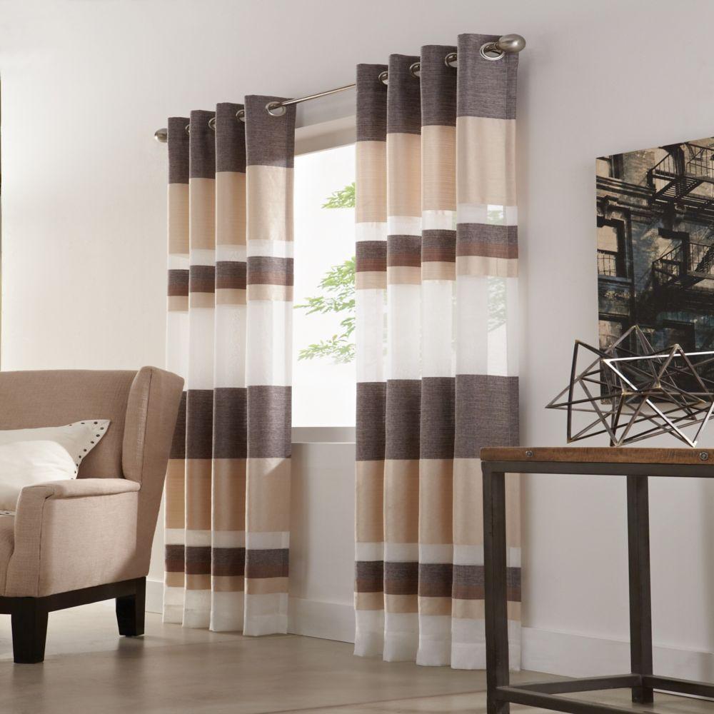 Home Decorators Collection Panneau Illets Taupe 52 X 95 Home Depot Canada