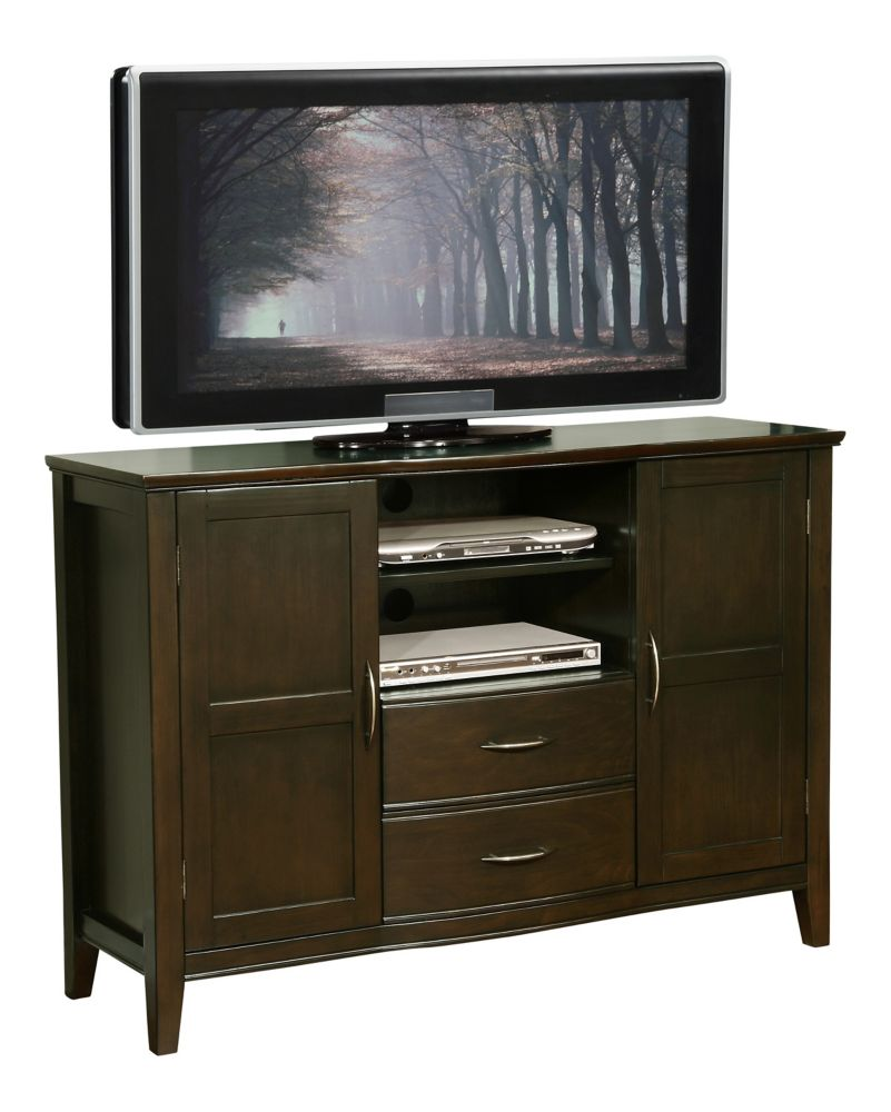 simpli home meuble t l williamsburg noyer fonc home depot canada. Black Bedroom Furniture Sets. Home Design Ideas