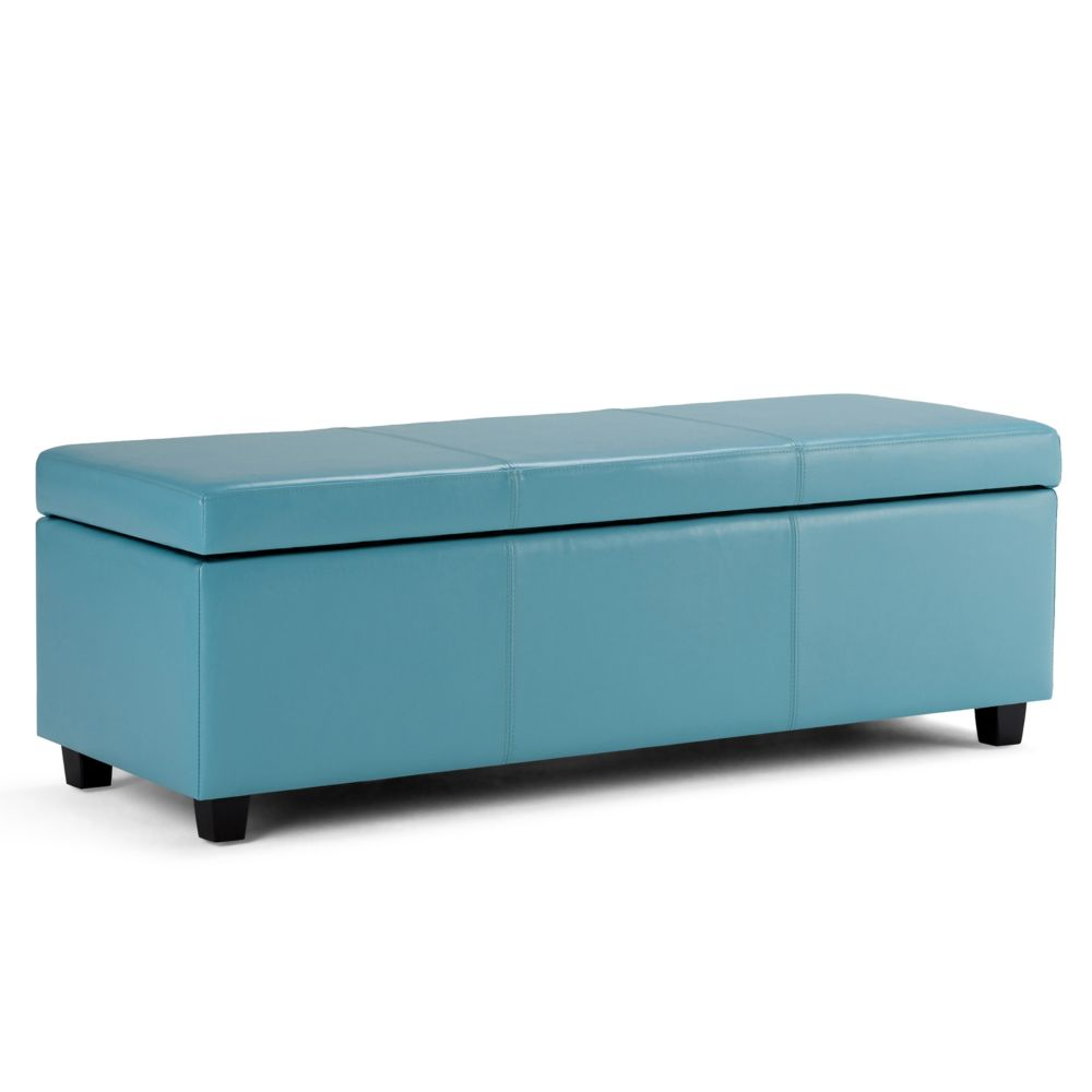 Simpli Home Avalon Large Rectangular Storage Ottoman Bench The Home Depot Canada