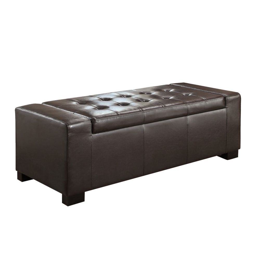 Simpli Home Laredo Large Rectangular Storage Ottoman Bench The Home Depot Canada