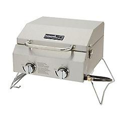 2-Burner Stainless Steel Portable BBQ