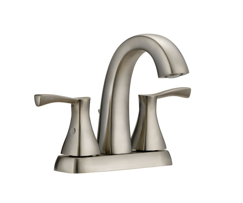 Glacier Bay Jaci 2 Handle 4in Centerset Bath Faucet In Brushed Nickel Finishin
