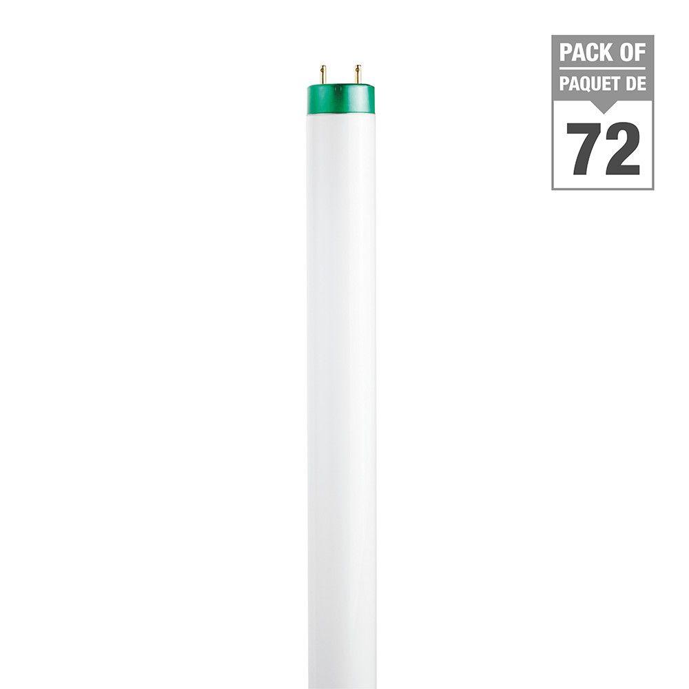 Fluorescent Linéaire  T8 32 W 48 po Blanc doux - Cas de 72 Ampoules