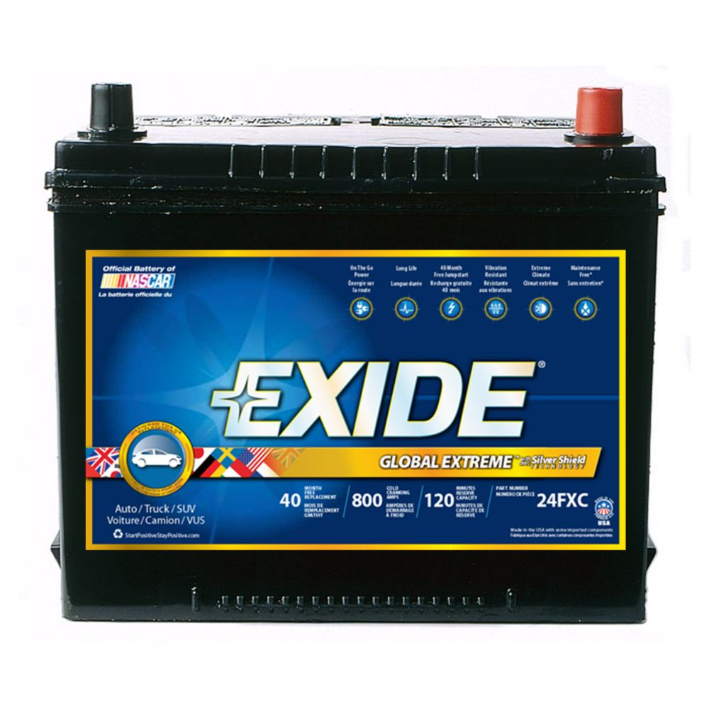 Exide Extreme Automotive Battery - Group 24f