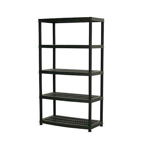 Accent 72-inch x 36-inch x 18-inch 5-Tier Shelf in Black