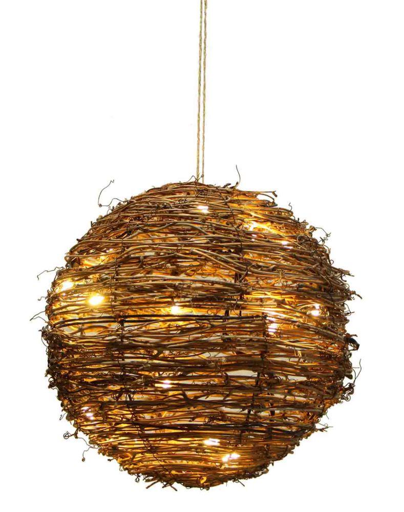 The home depot globe lumineux en rotin de 25 4 cm home - Globe lumineux exterieur ...