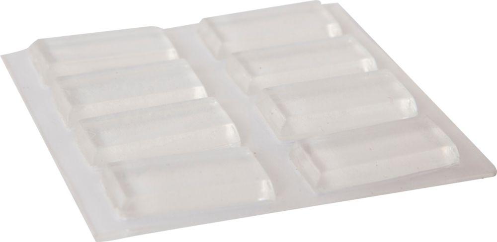 Everbilt 1/2 inch x 1 inch Clear Bumpers (8 per Pack)