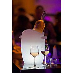 Fresh! – Seau à vin lumineux dextérieur avec éclairage à DEL sans fil