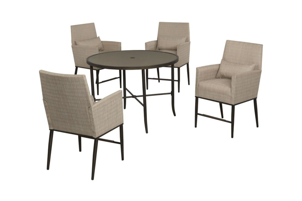 Aria 5pc Sling padded high dining set