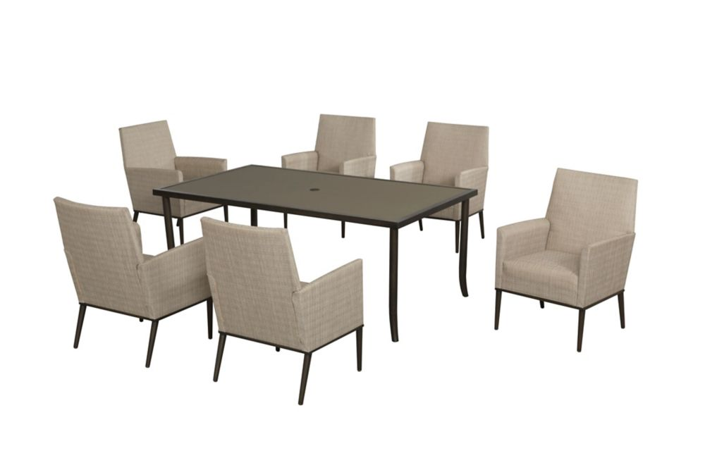 Aria 7pc Sling padded dining set