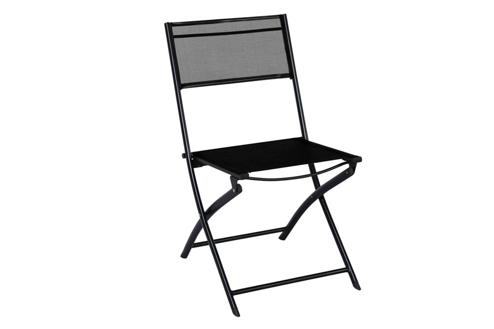 Unbranded Patio Sling Folding Chair in Black